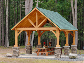 Gable Pavilion in Cedar