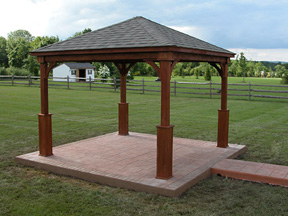 Pergolas by baldwin vinyl pergolas wooden pergolas for Pavilion cost per square foot