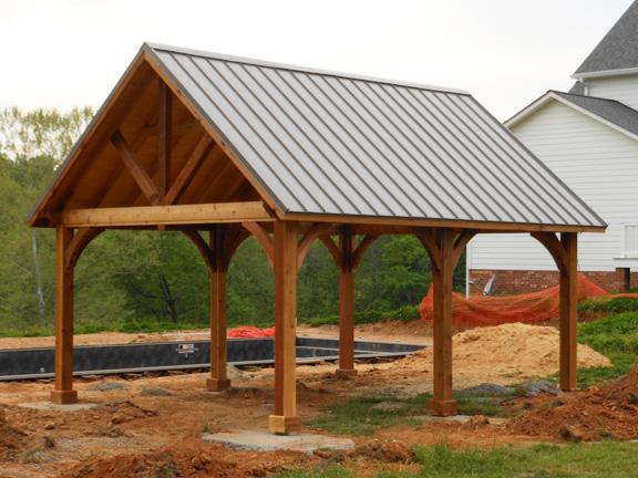 Wooden pavilions wooden gable pavilions pavilion kits for Pavilion blueprints