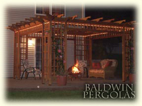 Baldwin Pergolas | Lintels and Dentil Work - Outdoor Pergola Lights