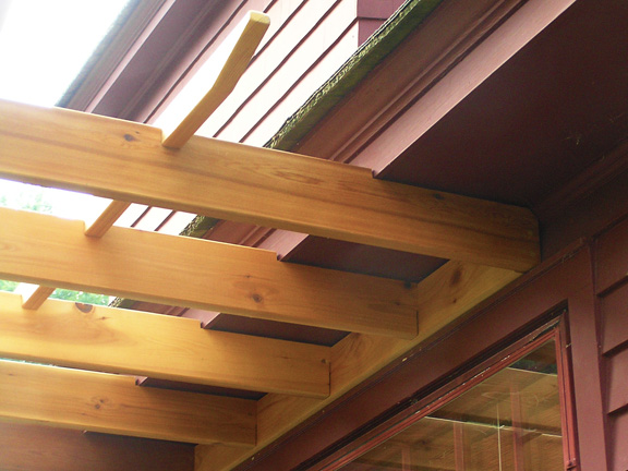 Attached cedar pergola - Cedar Pergolas And Custom Cedar Pergola Kits Baldwin Pergolas