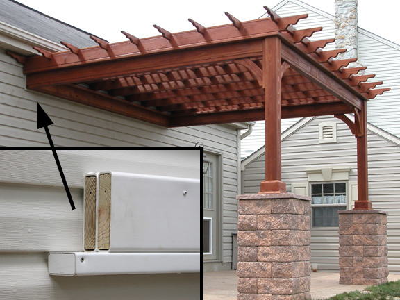 An attached pine pergola - Wooden Pergolas Pressure Treated Pine Pergolas By Baldwin Outdoor
