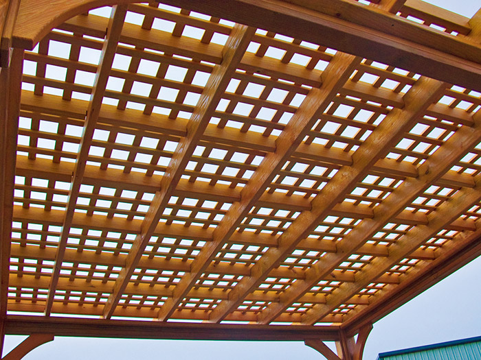 Lattice Roof for Pressure Treated Pergolas - Wooden Pergolas Wooden / Pressure Treated Pine Pricing Engine