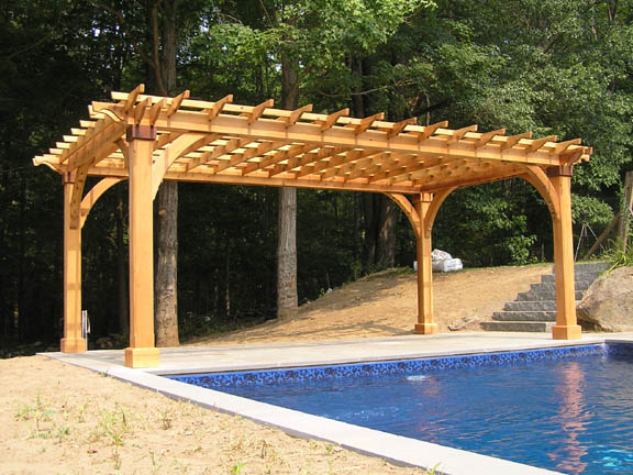 What makes this pergola extra special are the 8x8 posts and the 17 ...